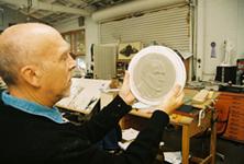 Kavli Medal plaster cast